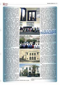 Article du journal de Tanger du l'illustration du livre Nos années lycées par Nora H.