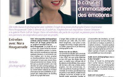 Interview de Nora H. dans Aujourd'hui le Maroc