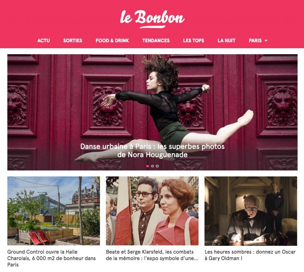 Article sur la série Dans Urbaine de Nora H. dans le Bonbon Paris