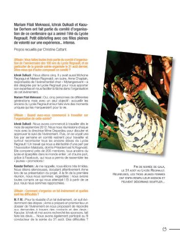 Article Urbain tanger 100ans lycée regnault - Photographies de Nora Houguenade