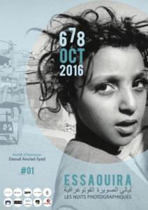 Affiche du Festival Nuits Photographiques pour lequel Nora Houguenade a projeté des images de Tanger