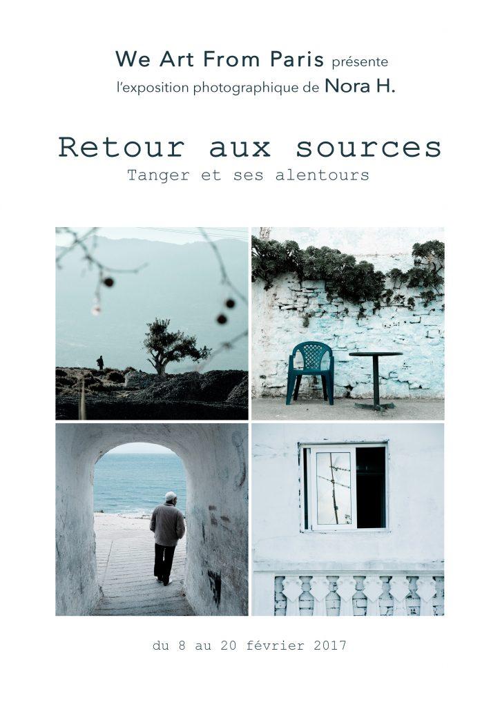 Affiche de l'exposition de Nora Houguenade Retour aux sources Tanger et ses environs