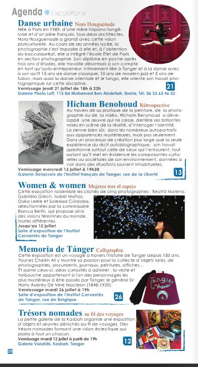 Article de Tanger Pocket sur l'exposition Danse Urbaine de Nora H. à la galerie Loft